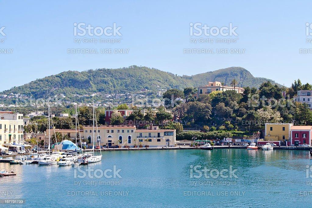 Ischia Ponte Harbor, Italy royalty-free stock photo