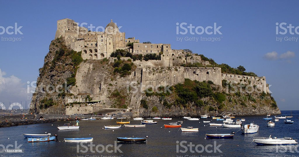 Ischia Ponte,Castello Aragonese stock photo