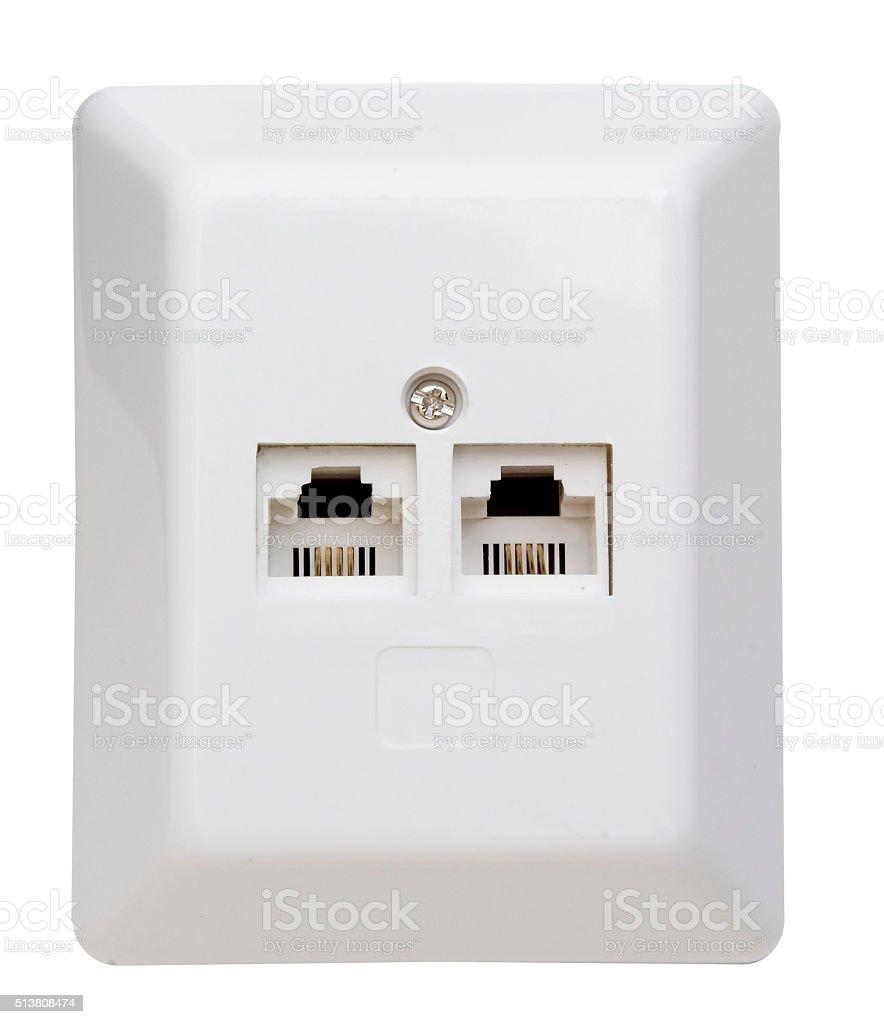 ISDN-Telefondose stock photo