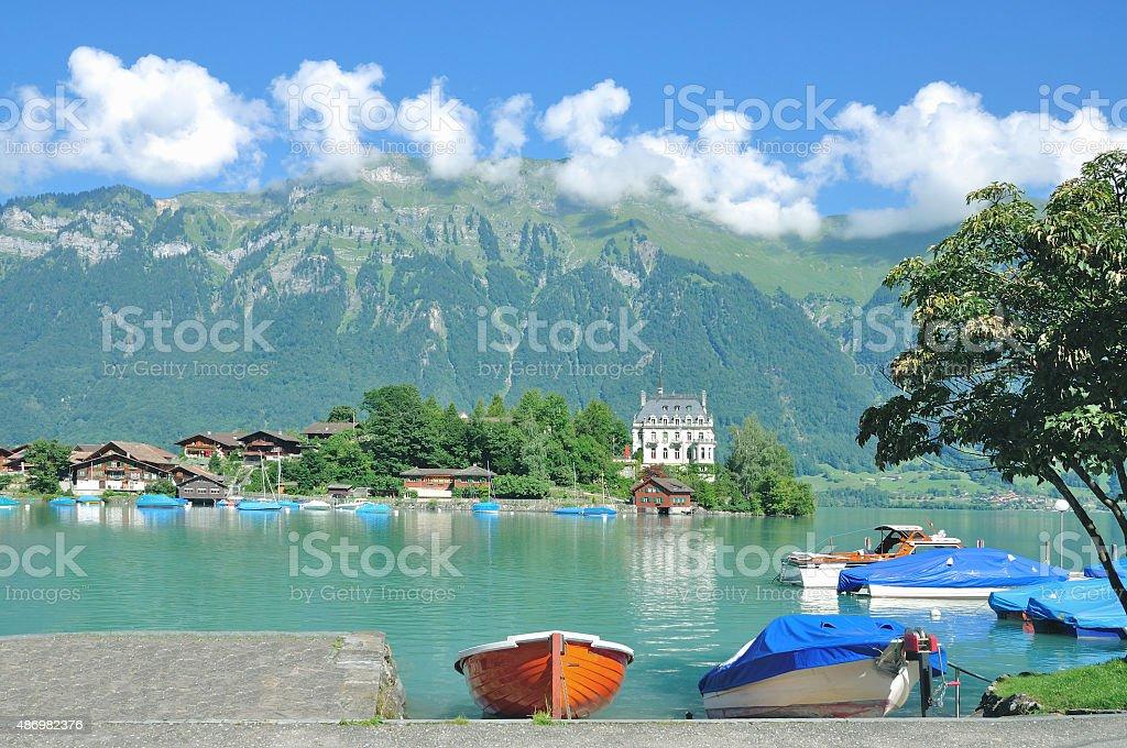 Iseltwald,Lake Brienz,Bernese Oberland,Switzerland stock photo
