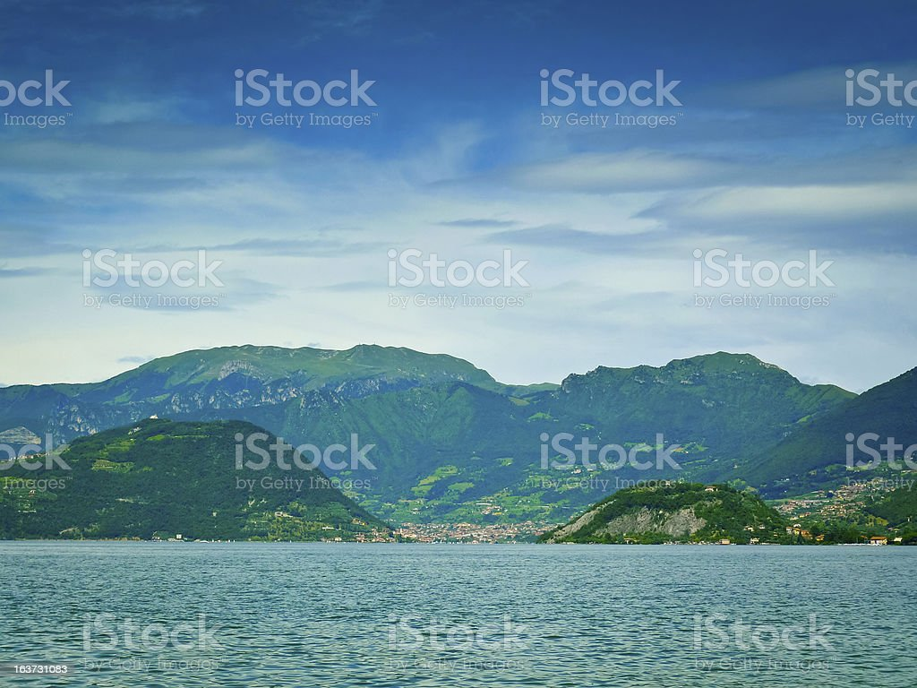 Iseo lake stock photo