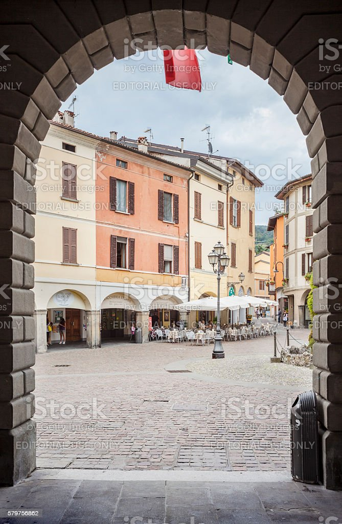 Iseo Square Seen Through Arch stock photo