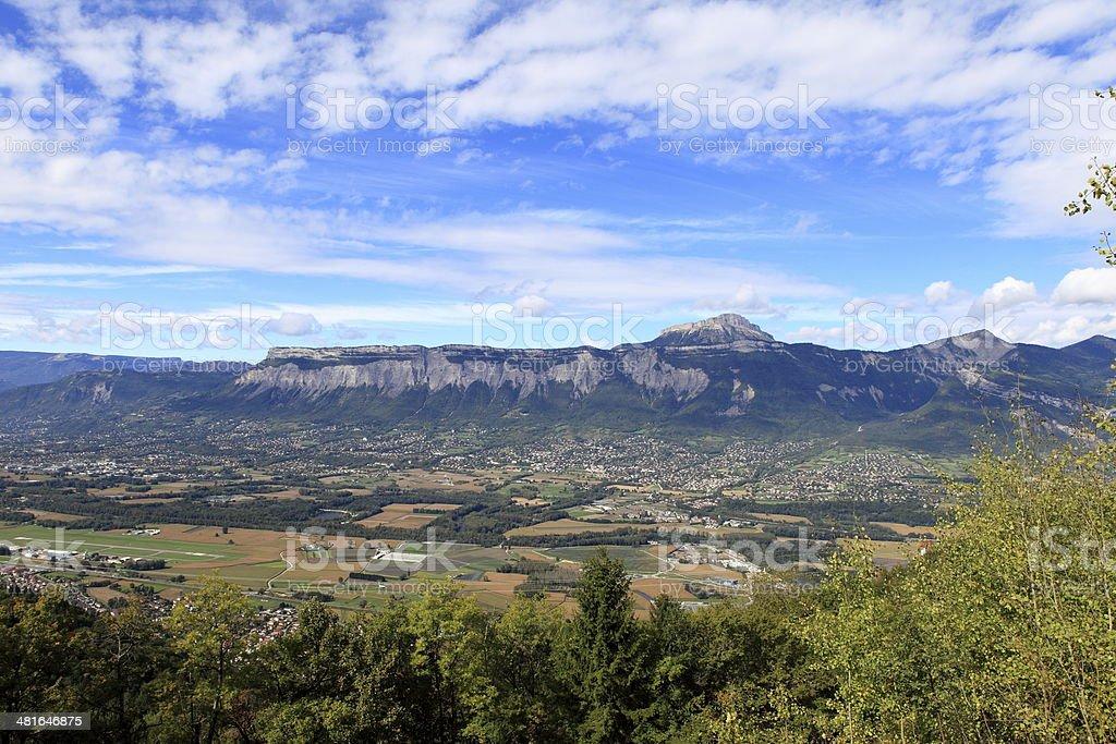 Isere valley stock photo