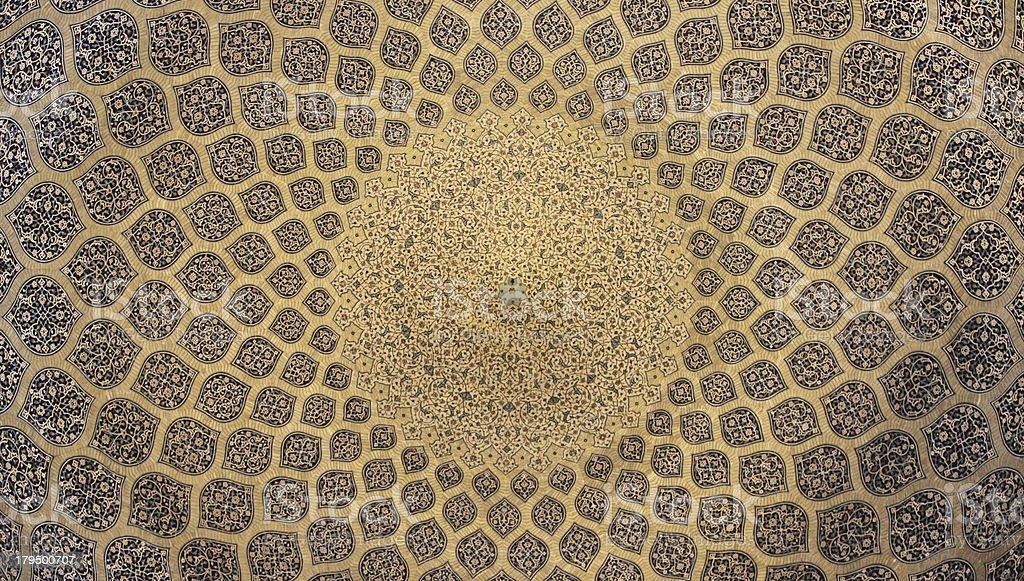 Isfahan Dome decoration (Iran) stock photo