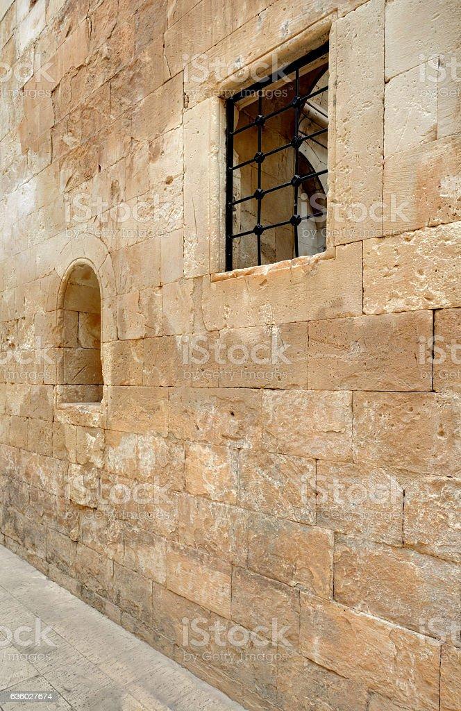 Ishak Pasha Palace Detail,Kars Turkey stock photo