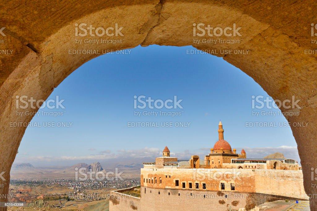 Ishak Pasha Palace, Dobubeyazit, Turkey stock photo