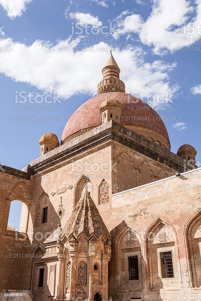 Ishak Pasha Palace in Dogubeyazit, Agri city, Turkey stock photo