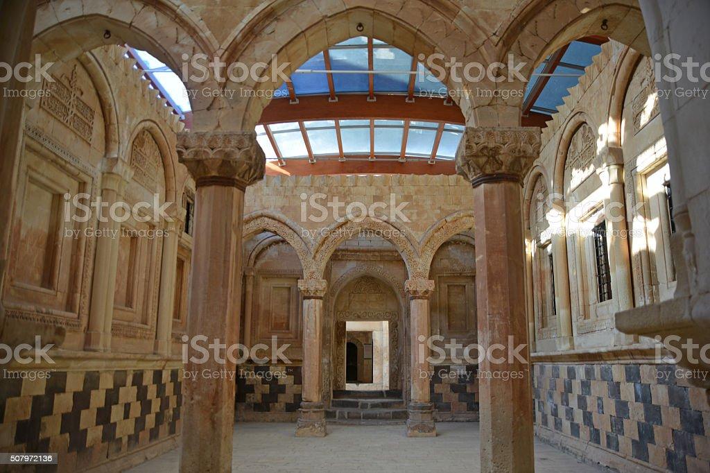 Ishak Pasha Palace inside stock photo