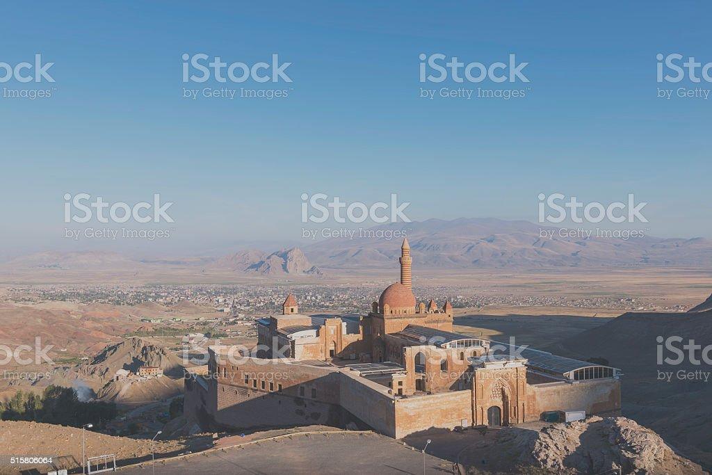 Ishak Pasha palace near Dogubayazit, Turkey stock photo