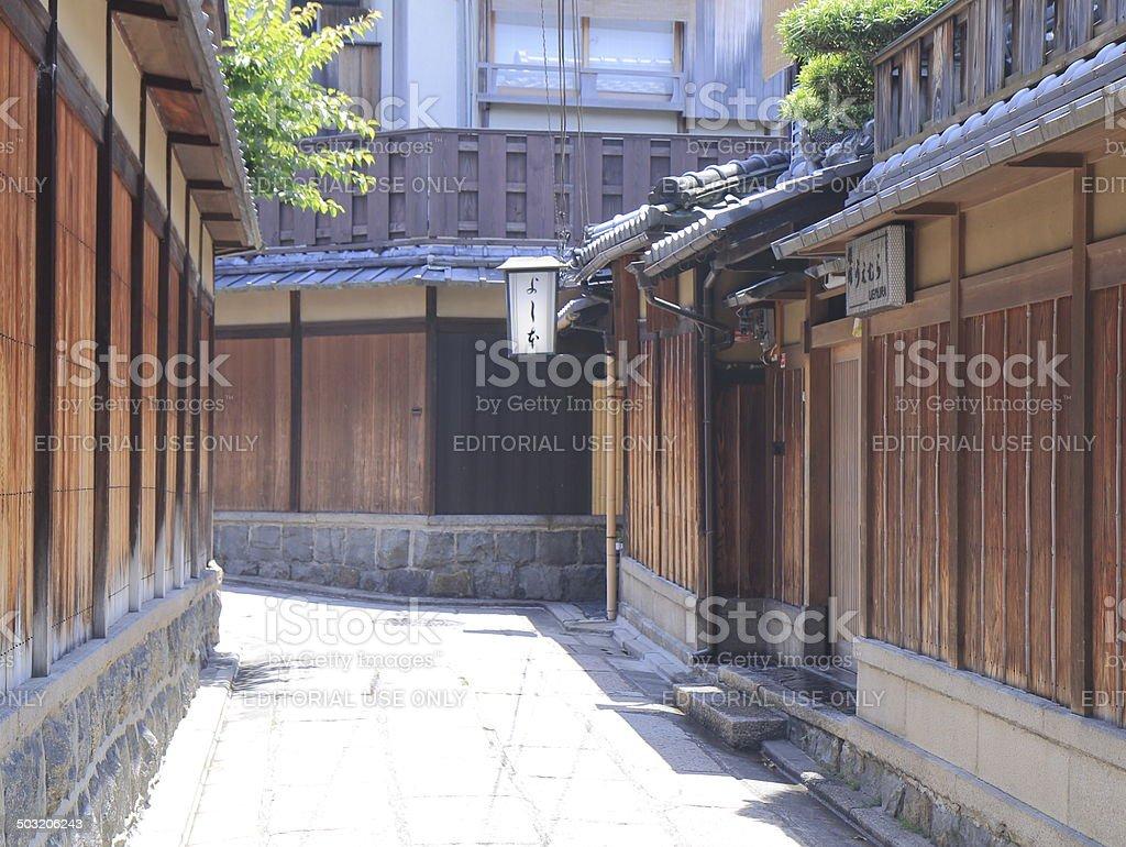 Ishibei Koji Lane Kyoto Japan stock photo