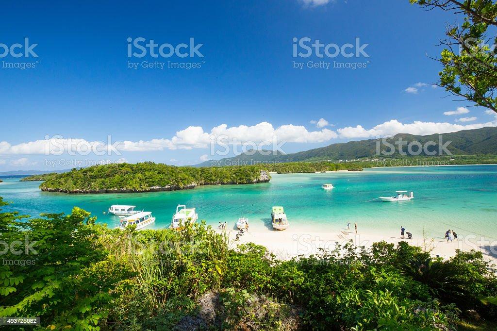 Ishigaki Kabira Bay in Japan stock photo