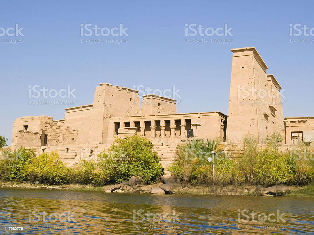 Isis Temple stock photo