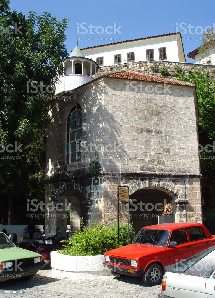 Iskele Mosque from the old port city of Antalya stock photo