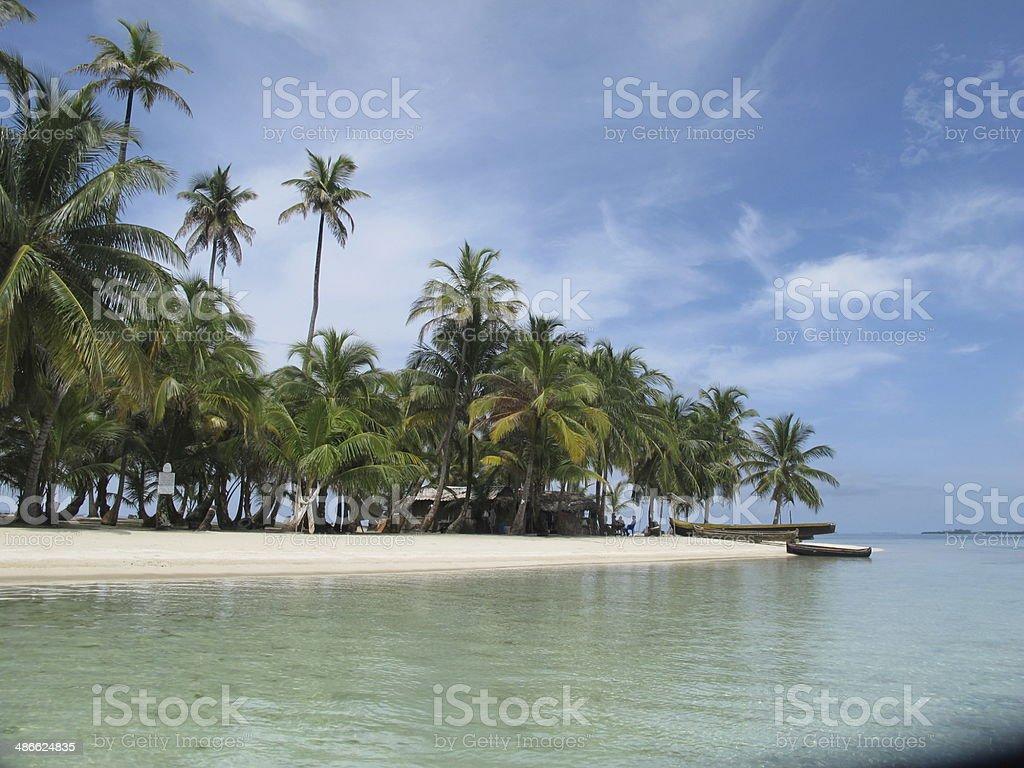 isla del caribe paname?o stock photo