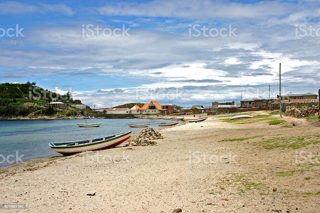 isla del sol beach stock photo