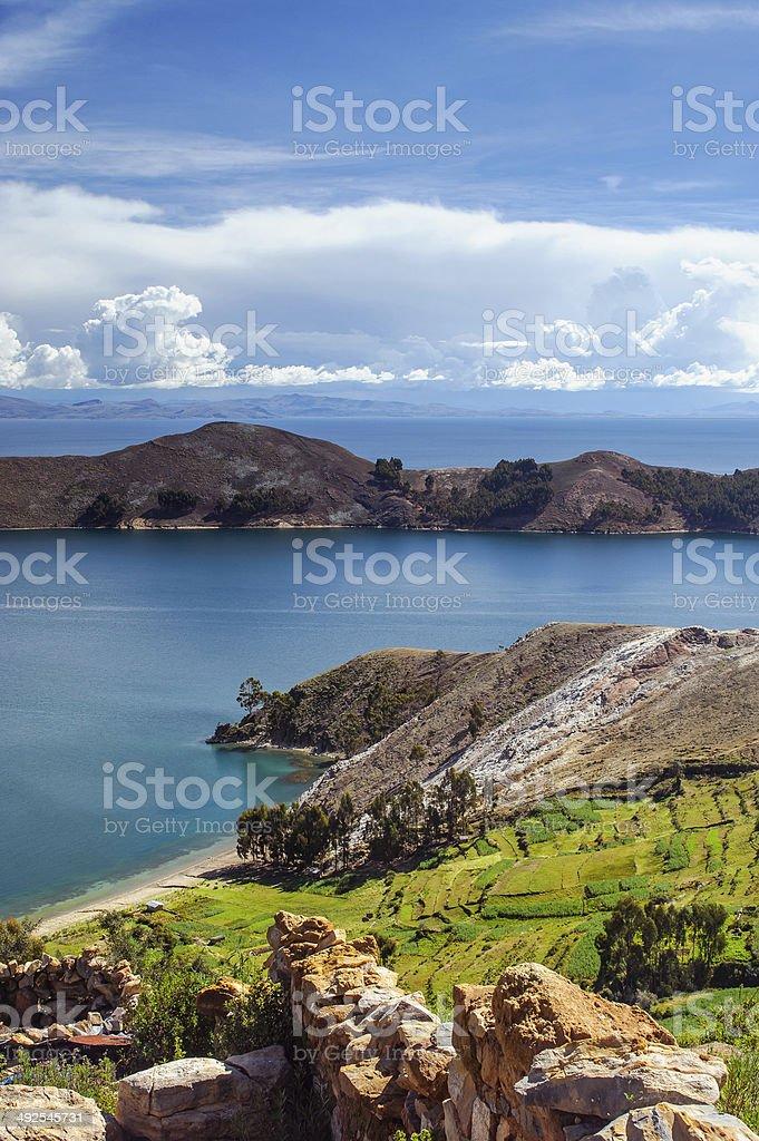 Isla Del Sol. Island of the Sun. Bolivia. stock photo