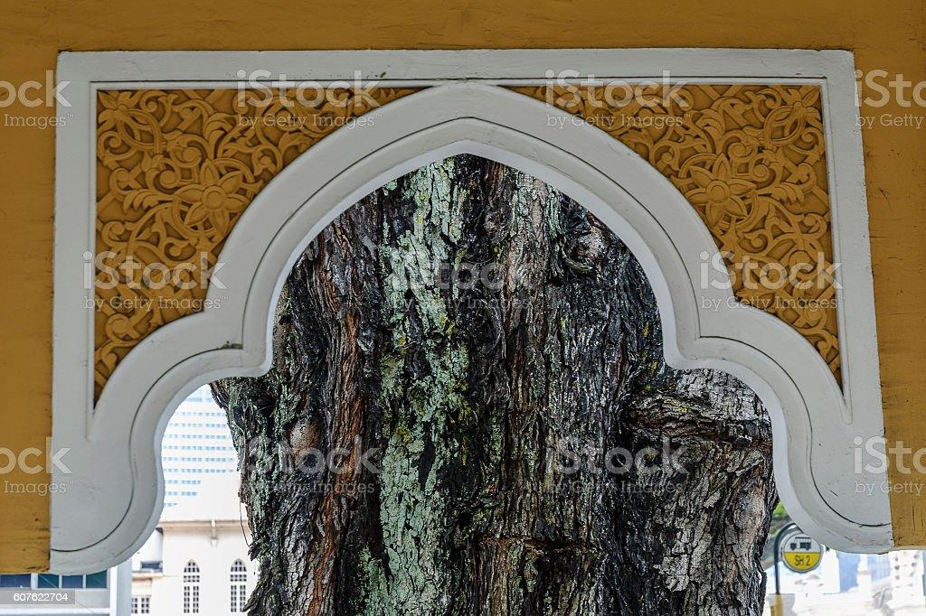 islamic arch stock photo