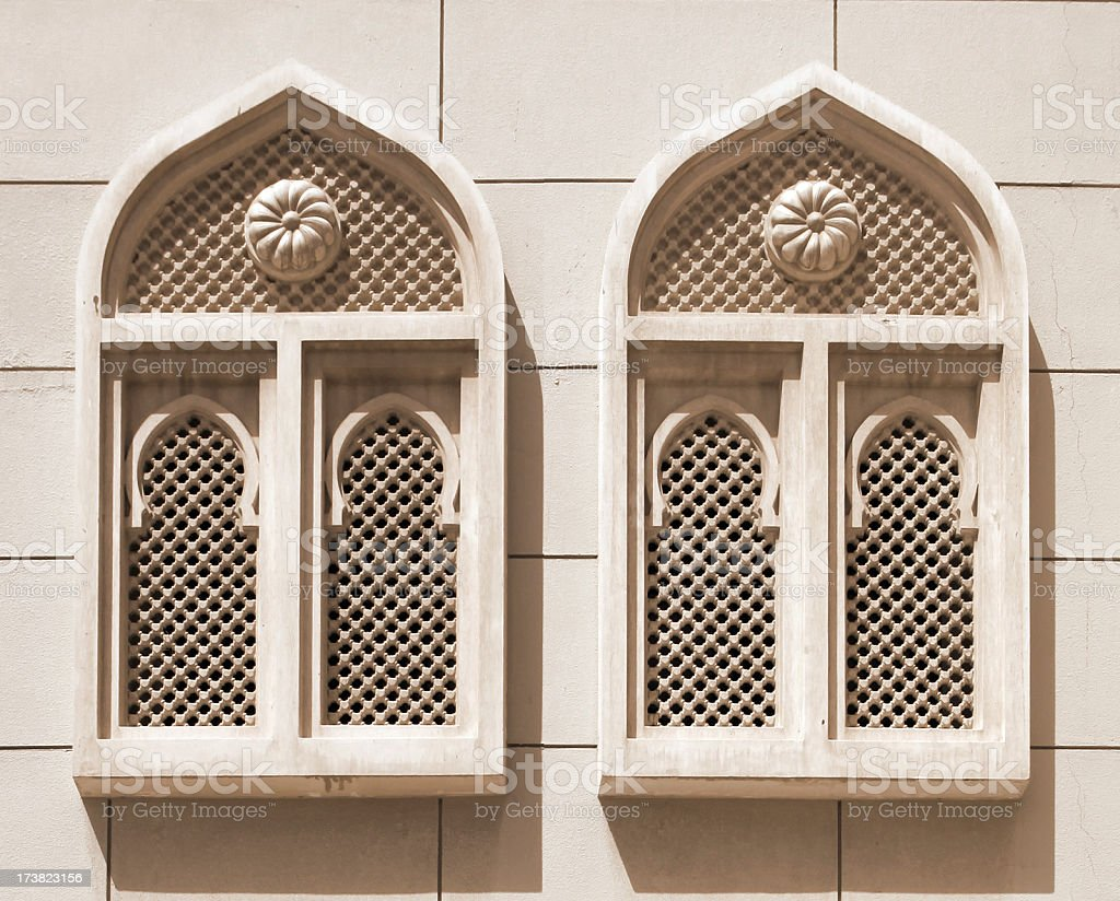 Islamic architecture elements stock photo