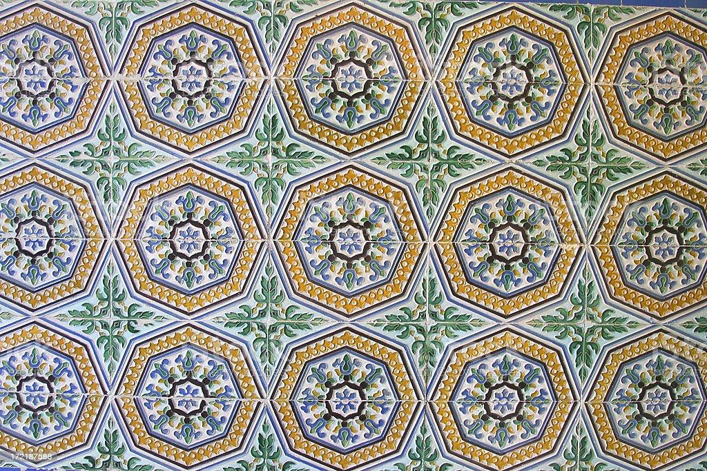 Islamic Art - Moorish Tiles stock photo