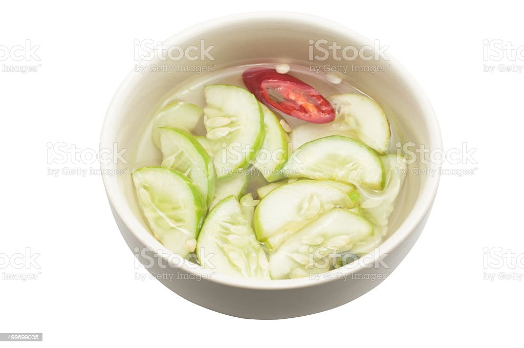 Islamic dish made of cucumber slices and onions in vinegar. royalty-free stock photo