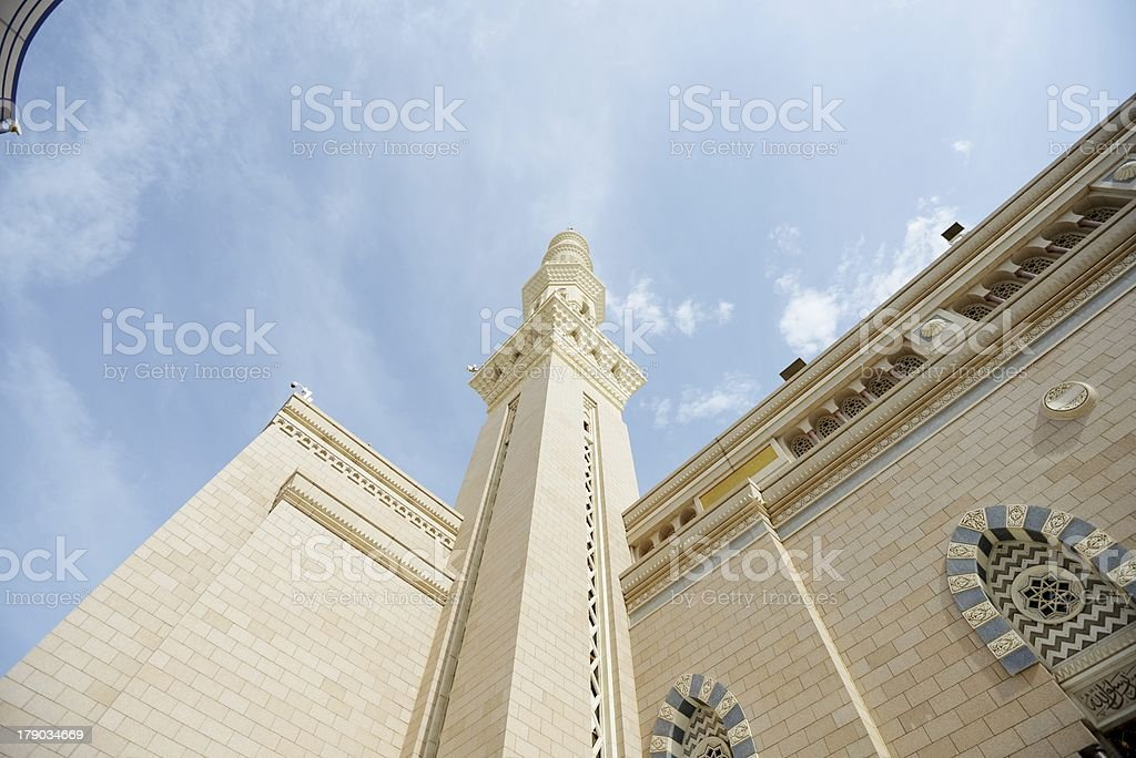 Islamic Holy Mosque at Madina royalty-free stock photo