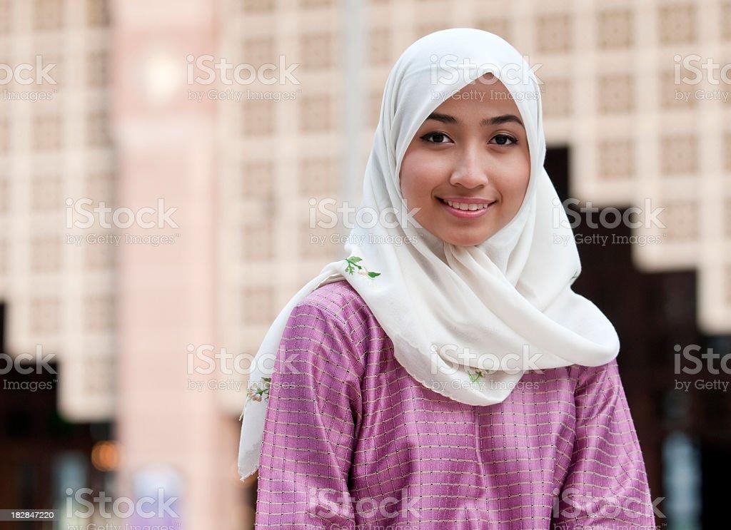 Islamic Malay lady stock photo