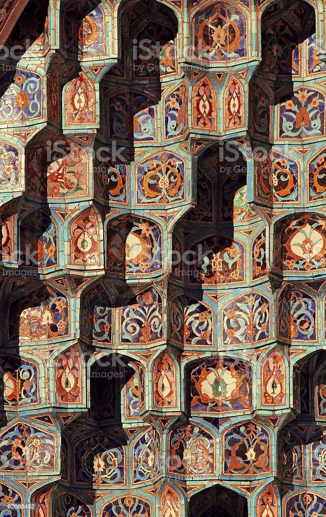 Islamic mosaic-2 stock photo