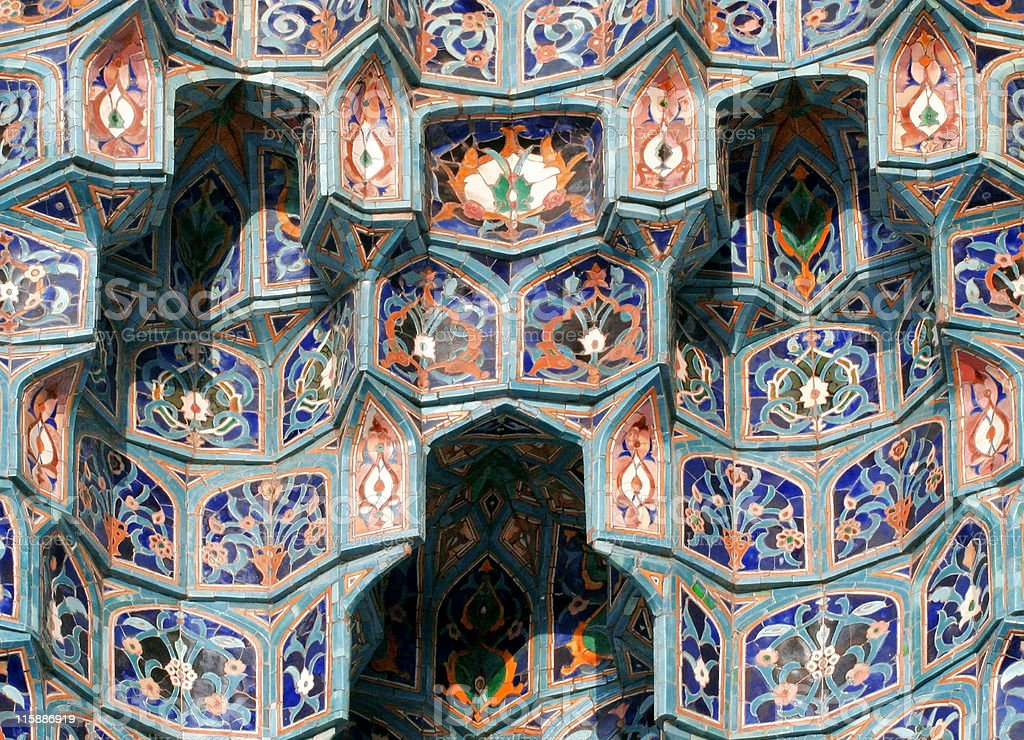 Islamic mosaic-3 stock photo