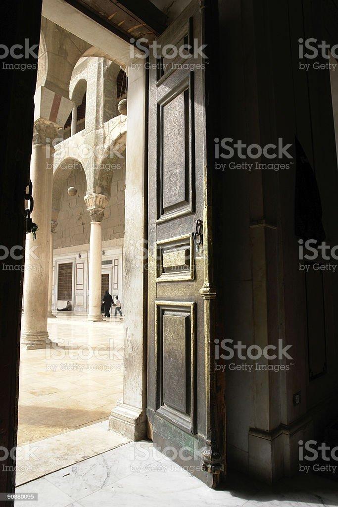 Islamic mosque door royalty-free stock photo