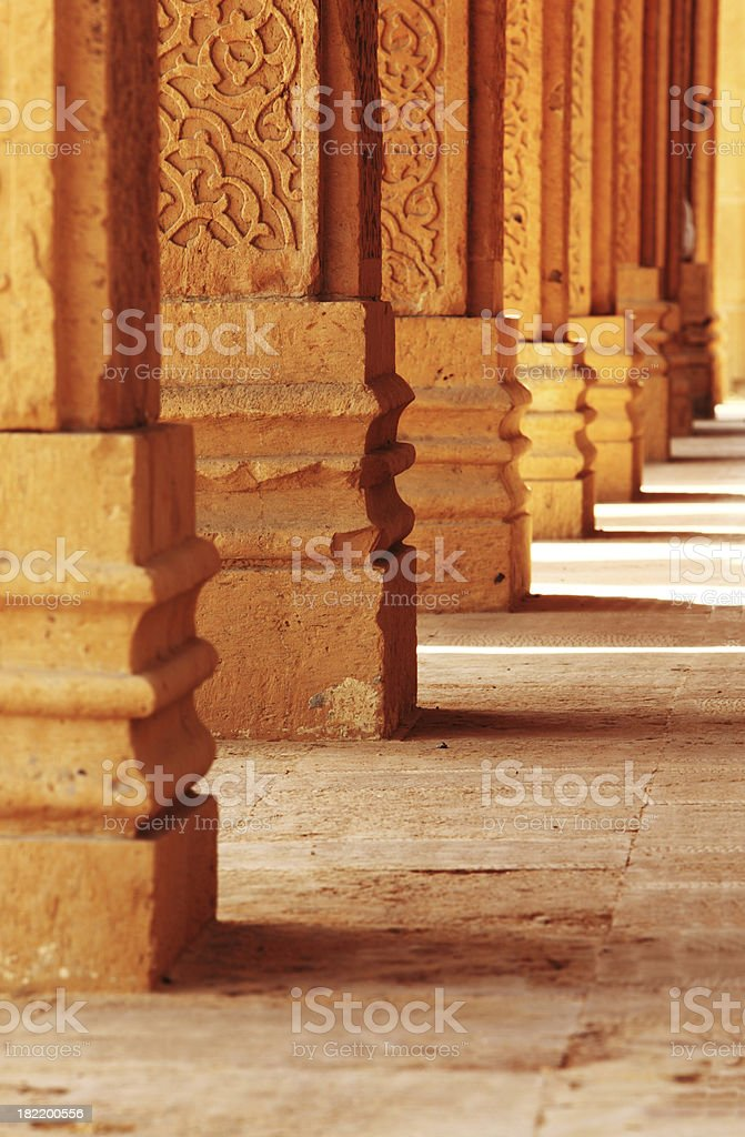 Islamic Pillars stock photo