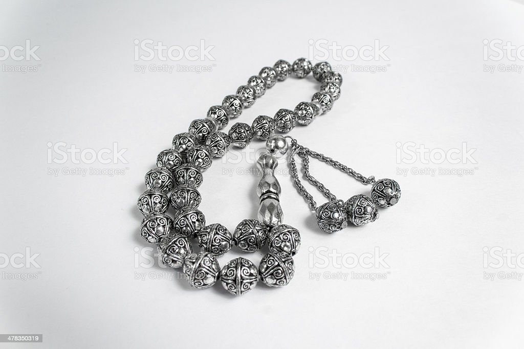 Islamic Prayer Beads Sebha stock photo