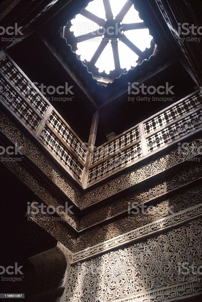 Islamic School in Marrakesh stock photo