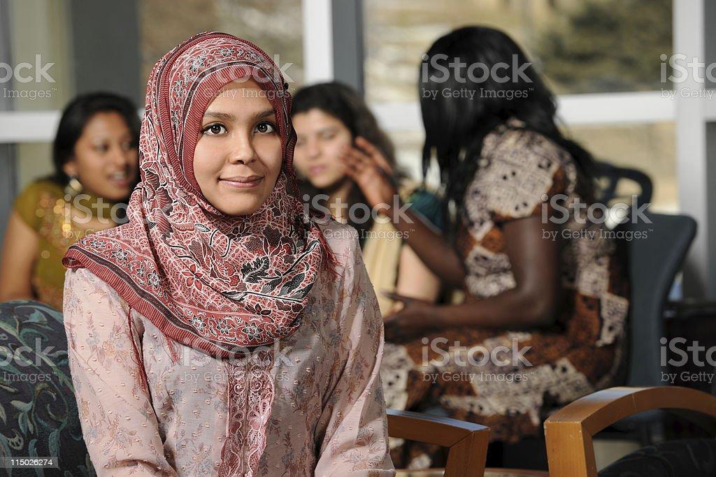 Islamic Young Woman stock photo
