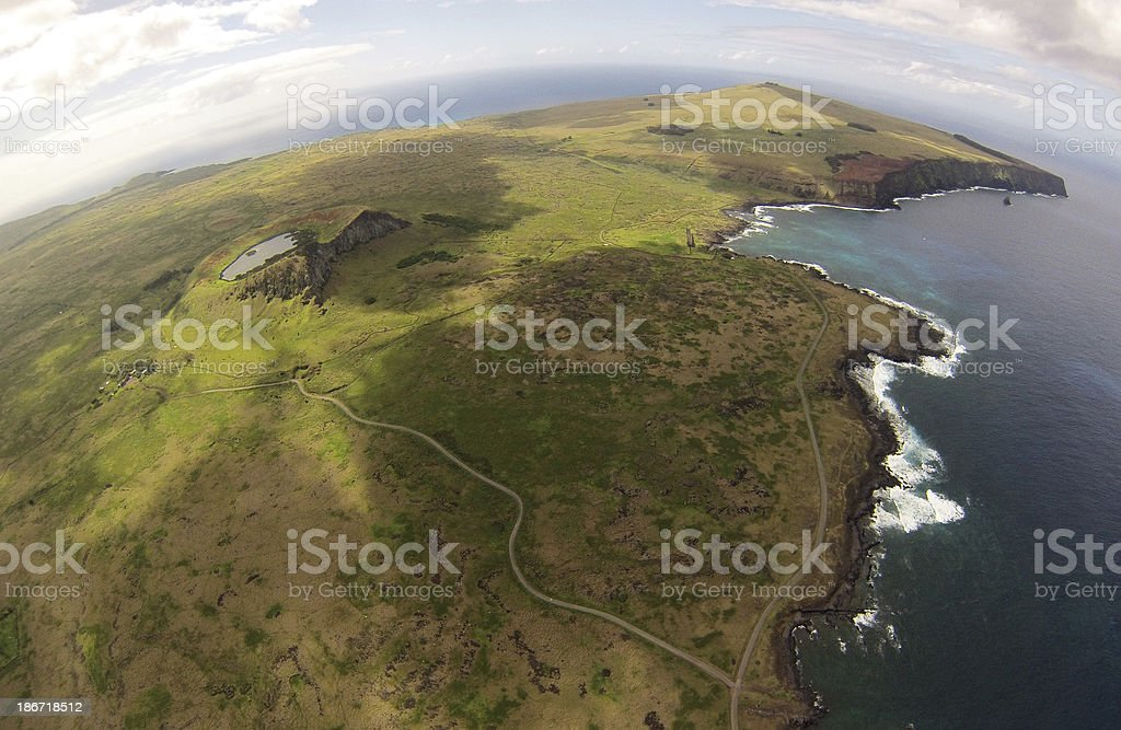 Island Aereal View royalty-free stock photo