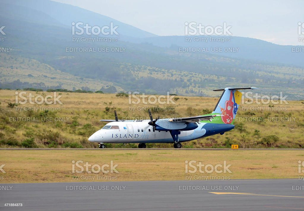 Island Air regional flight from Maui, Hawaii stock photo