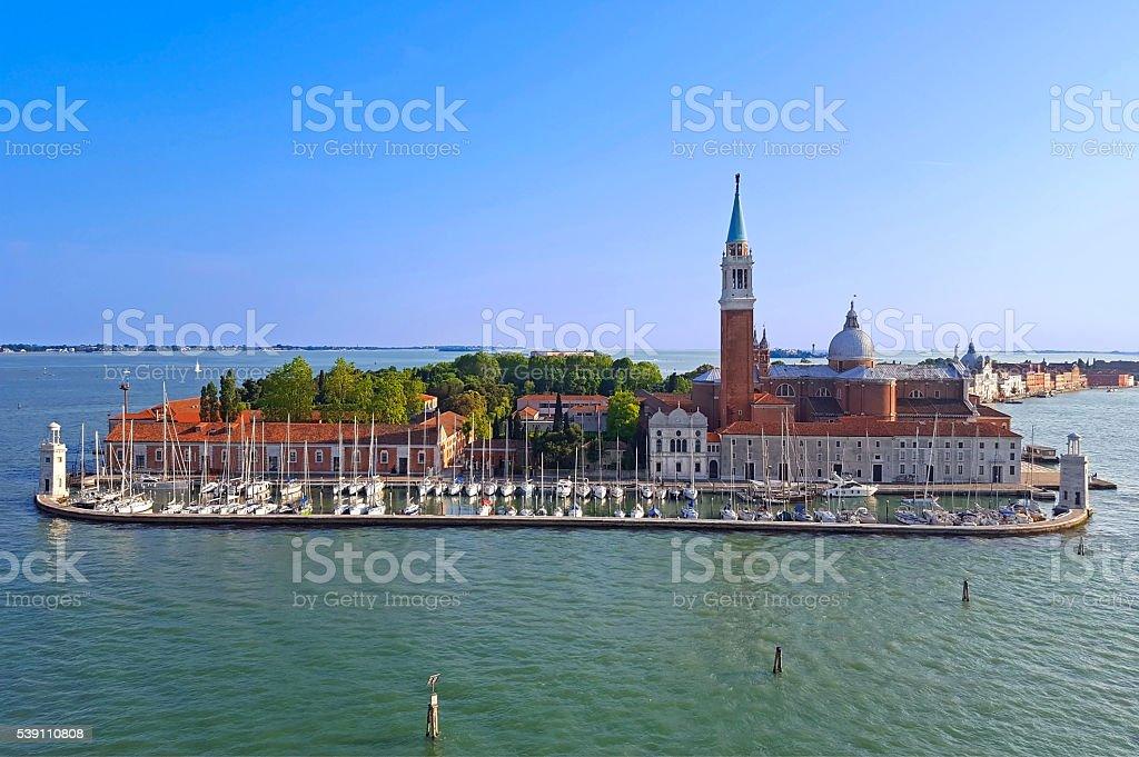Island and church San Giorgio Maggiore in Venice stock photo
