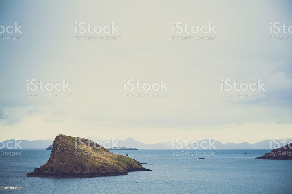 Island and Ocean, Scotland Landscape, Isle of Skye royalty-free stock photo