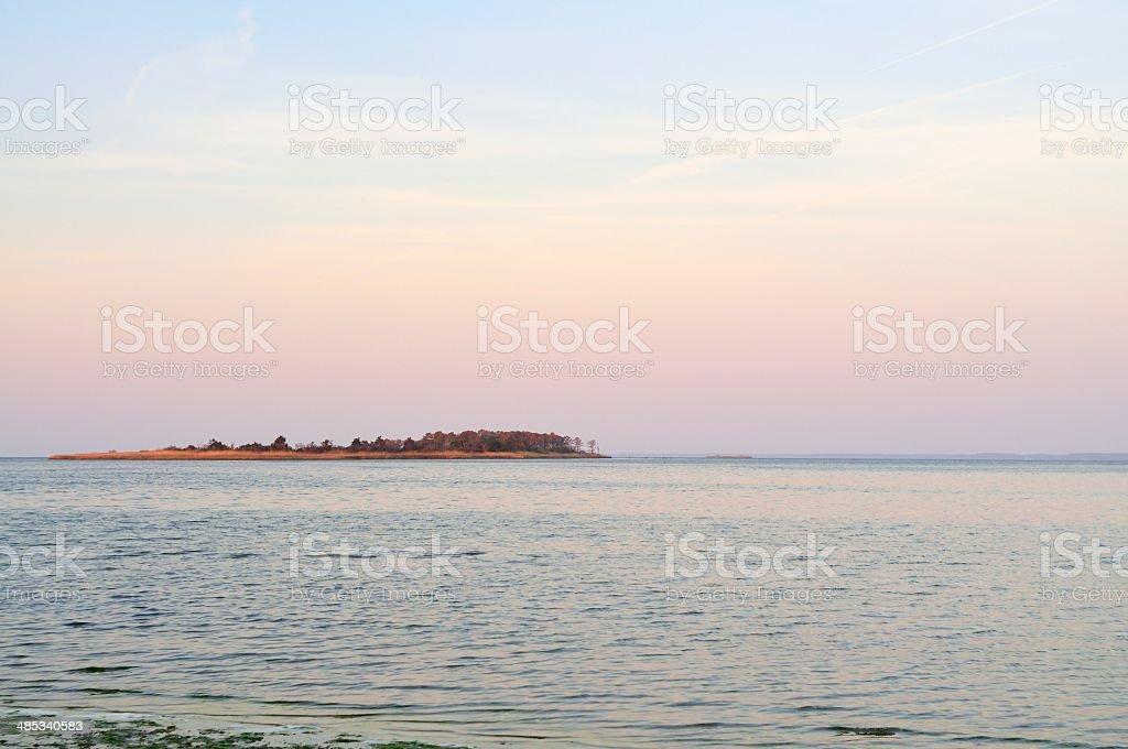 Island At Sunrise stock photo