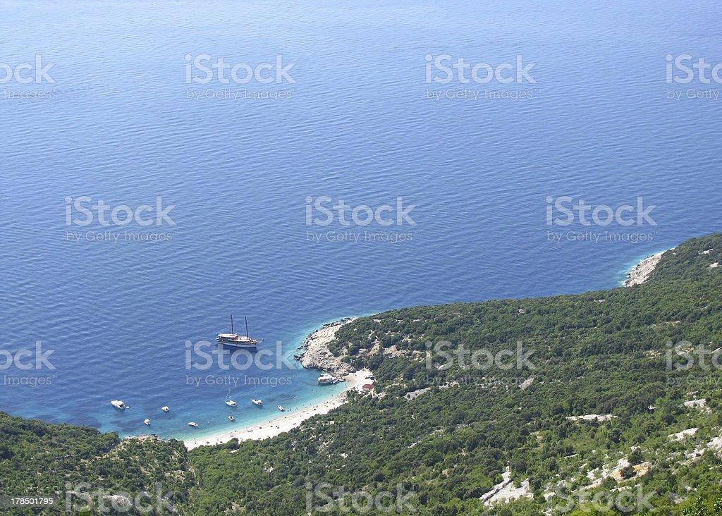Island bay and boats royalty-free stock photo