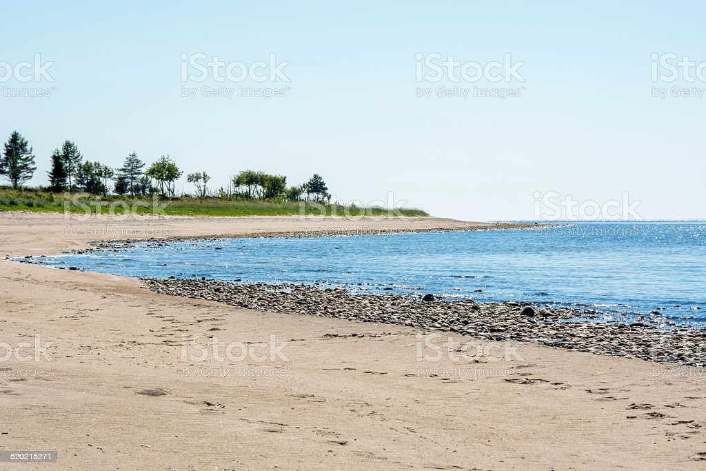 Island Beach in the North of Sweden stock photo