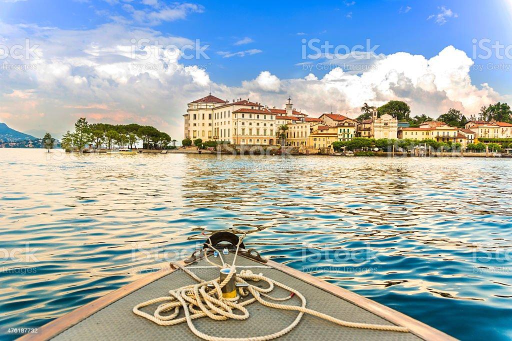 Island Bella Maggiore Lake stock photo