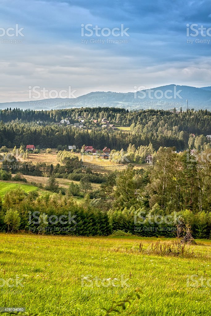 Island Beskids, Poland stock photo