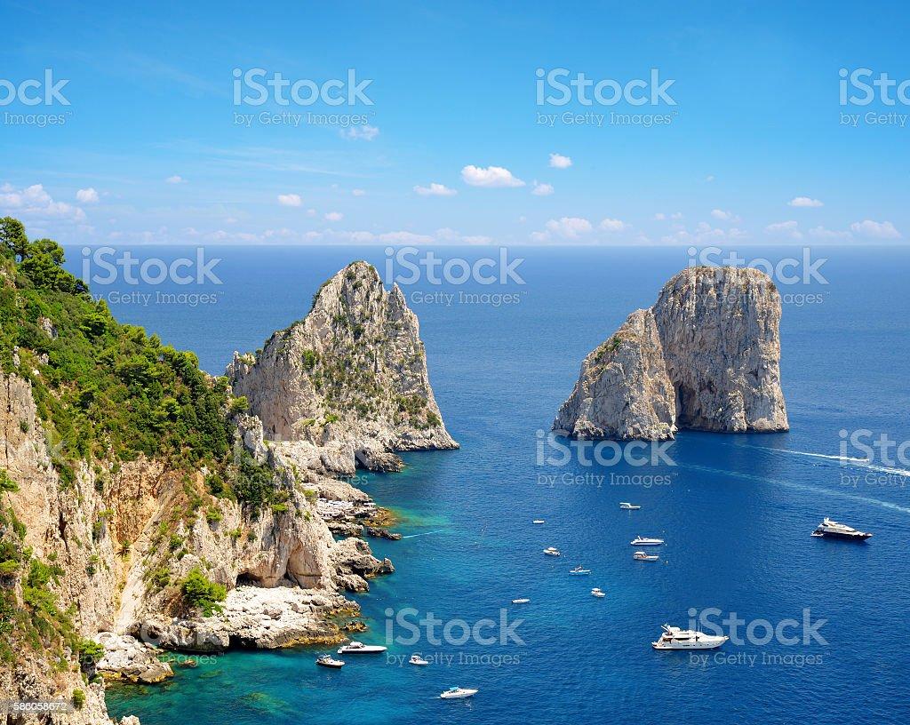 Island Capri, Campania region of Italy stock photo