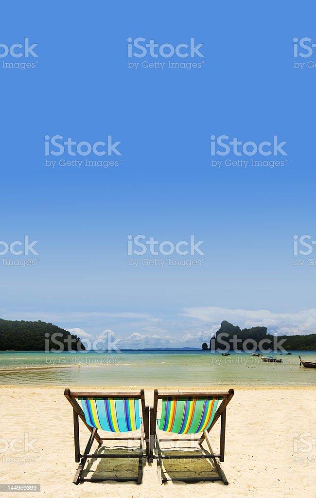 Island chairs royalty-free stock photo