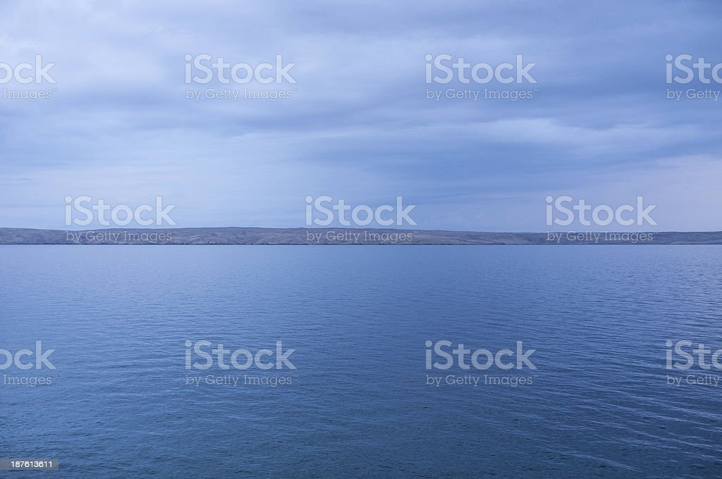 Island coast stock photo
