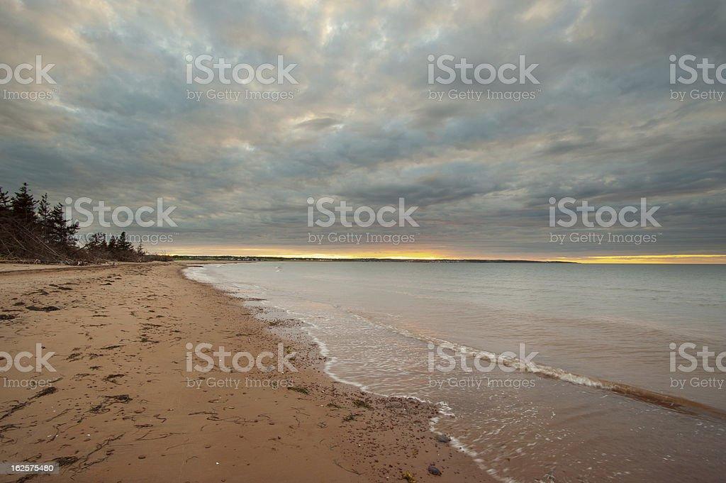 Island costal scene royalty-free stock photo