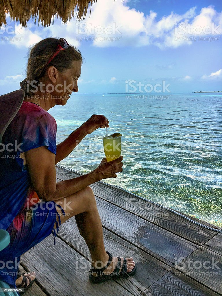 Island happy hour stock photo