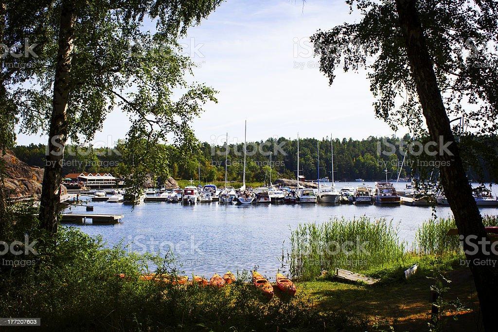 Island harbor royalty-free stock photo