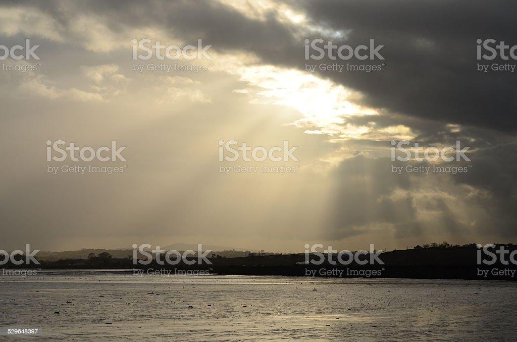 Island Hill Strangford Lough stock photo