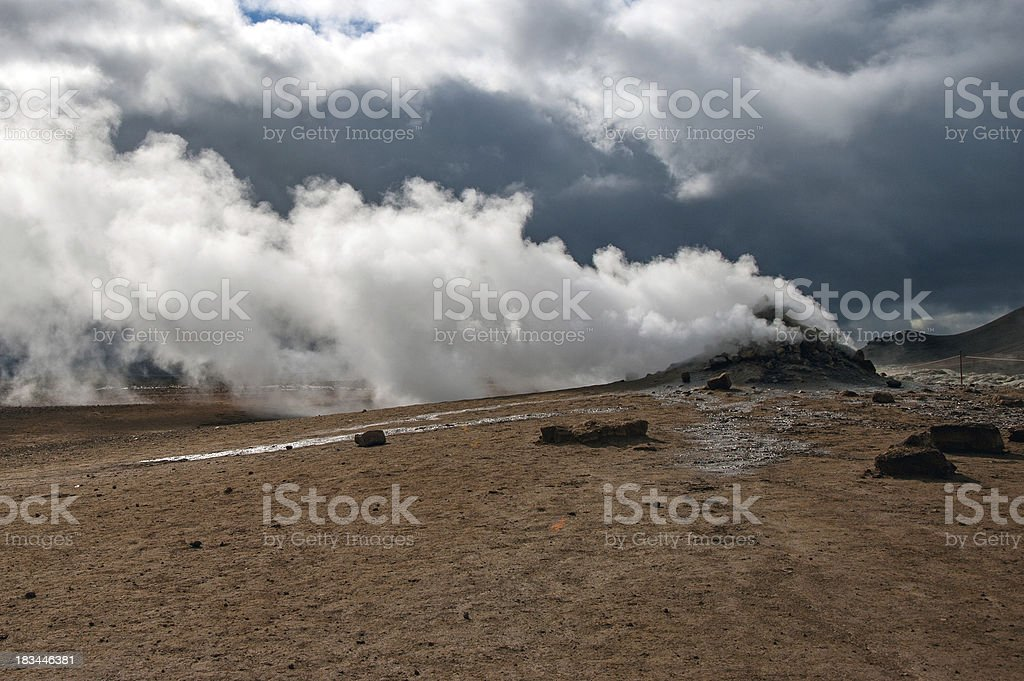 Island - Hochtemperaturfeld Namaskard am Myvatn-See royalty-free stock photo